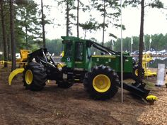 """An early morning shot before the Mid Atlantic Logging and Biomass Expo 2013 in Selma, NC.  This is a great """"in the woods"""" event.  James River Equipment is there with our full line of John Deere Forestry Equipment as well as our Morbard wood processors."""