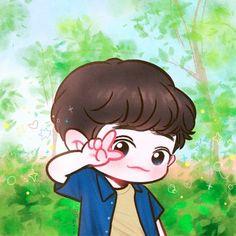 Chanbaek, Chanyeol Cute, Park Chanyeol, Baekhyun, Exo Cartoon, Exo Stickers, Exo Anime, Chibi Wallpaper, Korean Anime