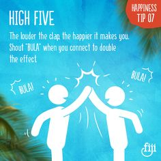 #FijiHappy Tip number 7. What good is happiness if you can't pass it on?