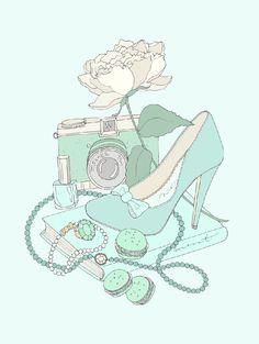Mint Still Life illustration size Large, by EmmaKisstina, $30