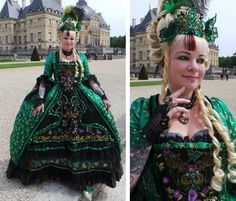 Emerald Butterfly Dress by Liddy - One of the amazing 10 finalists in Urban Threads 2014 embroidered costume contest