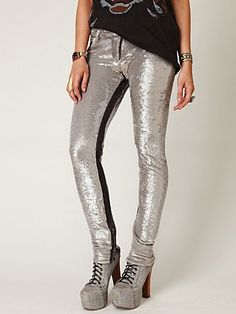 Distressed Sequin Pants from Free People