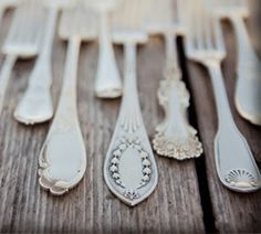 Mismatched flatware is so fun!  My customers love this. Always nice to have extras for the holidays.