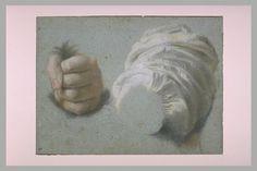 Une manche et un poing serrant des cheveux : étude pour Judith et Holopherne - ALLORI Cristofano