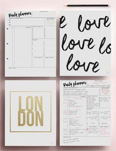 Daily Planner from EasyPeasyPaper // Pretty Art Prints from -> https://www.etsy.com/uk/shop/LoveBombPrintables
