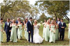 Pecan Grove Wedding, Fun Wedding Party, Wedding Party Poses, Mint and Navy wedding party