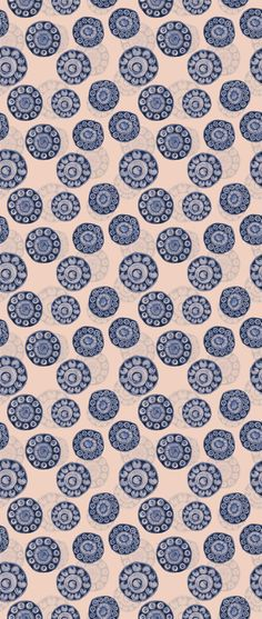 Prachtig behang met  Zeeuwse knoop als dessin. Ontwerp Lindsay van der Kuijl i.o.v. Prints van Oranje