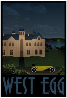 West Egg Retro Travel Poster Posters at AllPosters.com