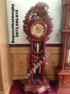 đồng hồ cây giá rẻ, Đồng hồ đứng gỗ gụ DH111 ( Cung cap Dong ho cay gia re, dong ho dep,Đồng hồ quả lắc,Dong ho kieu duc,dong ho dung go gu,dong ho cay)