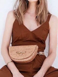 Convertible Raffia Crossbody Belt Bag by HFS Collective // The Good Trade Sustainable Capsule Wardrobe Inspiration For Summer Vegan Fashion, Green Fashion, Ethical Fashion, Slow Fashion, Fashion Brands, Womens Fashion, Sustainable Clothing, Sustainable Fashion, Summer Minimalist