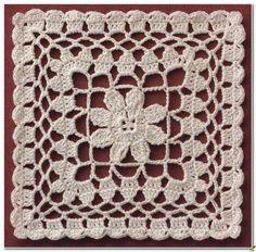 Risultati immagini per muestras o pastillas a crochet Crochet Blocks, Granny Square Crochet Pattern, Crochet Diagram, Crochet Stitches Patterns, Crochet Squares, Crochet Chart, Thread Crochet, Crochet Motif, Crochet Designs
