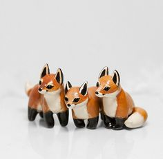 Fox Figurine OOAK Handmade Polymer Clay Animal Totem on Etsy, $33.52 CAD