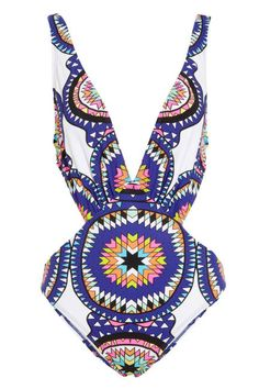 Printed pow wow one piece available on marahoffman.com