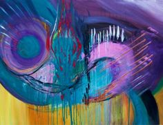 ARTFINDER: Abstract Large Painting 2014 by Mo Tuncay - We organise sometimes painting sessions together with another Artists in Amsterdam, this was the result end of the day :) Overview Handmade ...