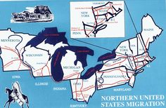 Northern US Migration Routes