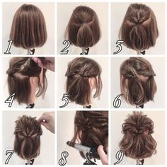 465 Likes 8 Comments Penteados Cabelo Curto ( on Instag Short Hairstyles For Women, Braided Hairstyles, Fast Hairstyles, Medium Hair Styles, Curly Hair Styles, Hair Arrange, Short Hair Updo, Loose Updo, Pinterest Hair
