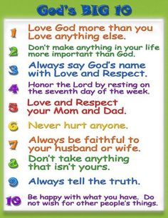 the ten commandments list for kids - Yahoo Search Results