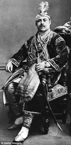 Prince Victor Duleep Singh, Prince of India at a fancy dress ball at Devonshire House as the Emperor Akbar, the Mogul emperor