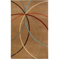Art of Knot Nuiqsut Hand Tufted Wool Area Rug, 5' x 8', Beige