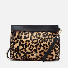 Dune Women's Eharriet Leopard Print Clutch Bag| animal print handbag