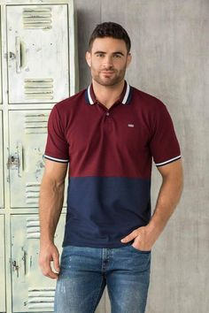 Polo Manga Corta Único Polo Rugby Shirt, Mens Polo T Shirts, Rugby Shirts, Polo Outfit, Clothing Photography, Boutique Tops, Stylish Men, Men Dress, Shirt Designs