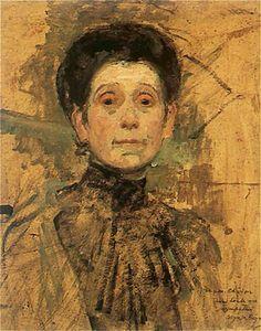Olga Boznanska (Polish Impressionist painter, 1865-1945) Autoportret 1943