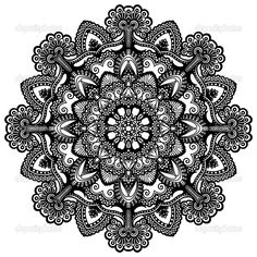 Circle Ornament Ornamental Round Lace Vector Clipart   Tattoo ...