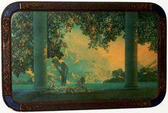 Vintage Maxfield Parrish Daybreak Print in Large Art Deco Frame 33 x 21 Art Deco Period, Art Deco Era, Garden Of Allah, Maxfield Parrish, Antique Pictures, Large Art, Vintage Prints, More Photos, 1920s