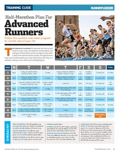 trendy half marathon training plan nutrition runners world Running Training Plan, Strength Training For Runners, Race Training, Running Humor, Training Schedule, Triathlon Training, Running Workouts, Training Equipment, Running Tips