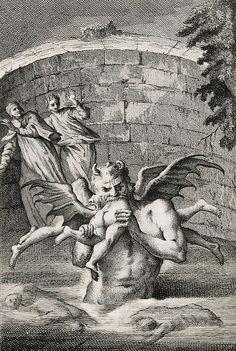 Lucifer - Canto XXXIV    From Divine Comedy (Venice: Antonio Zatta), 1757-58