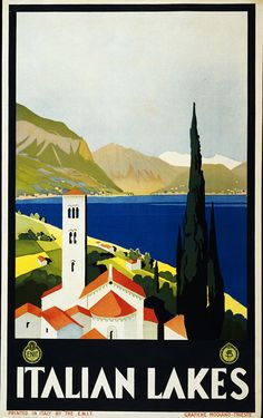 #ThrowbackThursday -- Looking for a more unique getaway in Italy? Why don't you try a stay at its many lakes? Here's a vintage travel poster.