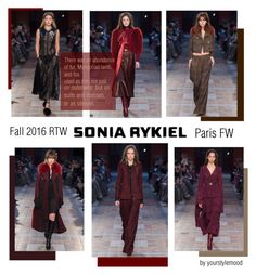 """Sonia Rykiel Fall 2016 PFW"" by yourstylemood ❤ liked on Polyvore featuring Sonia Rykiel"