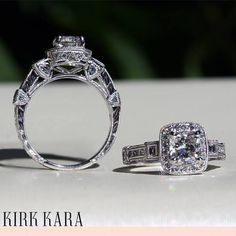 Handcrafted details from every angle. Kirk Kara Carmella Collection - Available Exclusively at Amour Jewellers. Please Like, Comment and Share. Antique Engagement Rings, Diamond Engagement Rings, Vintage Air, Tiaras And Crowns, Gemstone Colors, Kara, Ring Designs, Blue Sapphire, Vintage Antiques