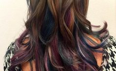 Oil slick hair: The rainbow trend that's PERFECT for brunettes