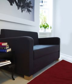 SOLSTA sofa bed in Ransta dark gray. Perfect for small spaces and a steal at $149.00!