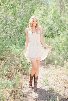 Sheer Cream Dress