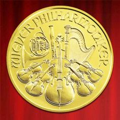 This Austrian gold coin represents the finest art while containing incredibly refined gold.  http://www.bullionuk.com/products/gold/coins/austria/vienna_philharmonic_1oz_gold_2013.html