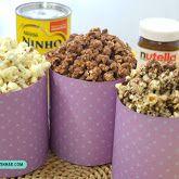 3 Receitas de pipoca doce: Nutella, Leite Ninho e Ovomaltine