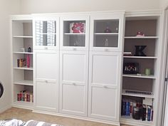 """Ikea Hack!  """"Built-Ins"""" using Ikea Bestas and Stuvas!  Tons of storage, and way less than the cost of real custom ordered built-ins!"""