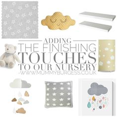 Adding the finishing touches to our nursery