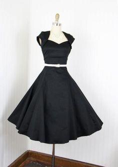 50' s Style little black dress