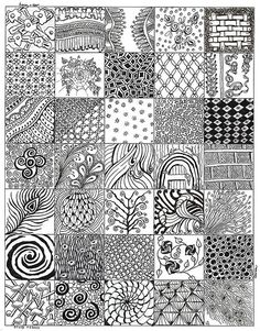 After my first 4 zentangles here is the collection of patterns I came up with from things around me and non tangle graphics.