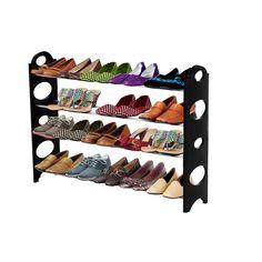 ForHauz Shoe Organizer 20 Pair Storage Rack for Closet or Entryway - Walmart.com - Walmart.com Closet Shoe Storage, Shoe Storage Cabinet, Storage Rack, Storage Shelves, Shoe Racks, Storage Ideas, Shelf, Hanging Closet Organizer, Shoe Organizer