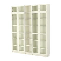 IKEA - BILLY/OXBERG, Bookcase, white, 78 3/4x93 1/4x11   this would be PERFECT for all our books! and with doors - LESS DUSTING!