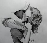 Image result for tumblr cute couple drawings