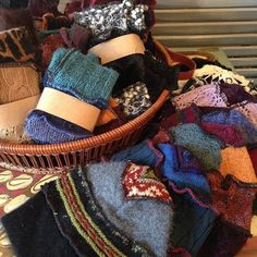 Photo: New shipment of upcycled sweater gloves and sweater hats just arrived. We open at 11 tomorrow. Come soon for the best pick.