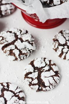 Decadent Double Chocolate Crinkle Cookies -- the best chocolate crinkle cookie recipe you will ever bake!