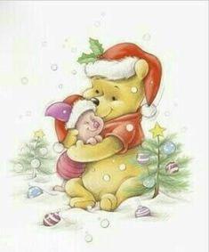 pooh and piglett Tigger And Pooh, Cute Winnie The Pooh, Winnie The Pooh Quotes, Winnie The Pooh Friends, Pooh Bear, Eeyore, Winnie The Pooh Christmas, Snoopy Christmas, Disney Christmas