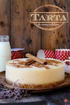 Receta de tarta crema catalana sin horno