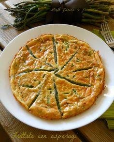 Frittata con asparagi al forno.Ricetta facile e veloce.Ottima come contorno, come secondo ma anche come piatto unico. Ideale per scampagante, pranzi veloci